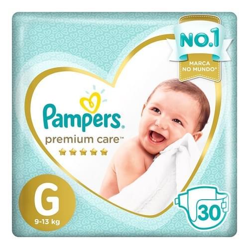 Imagem de Fralda infantil pampers premium care c/30 mega g pc