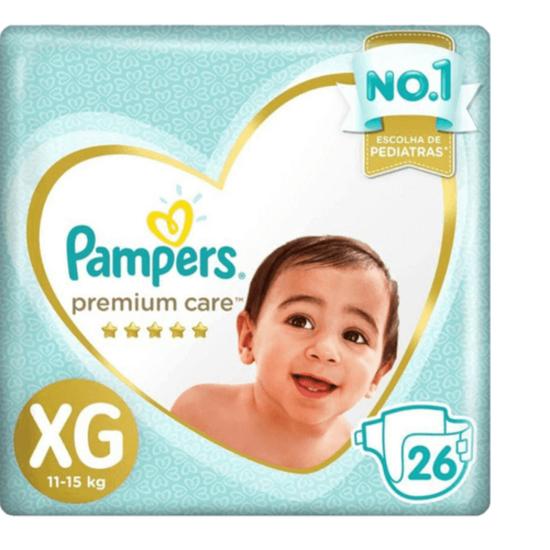 Imagem de Fralda infantil pampers premium care c/26 mega xg pc