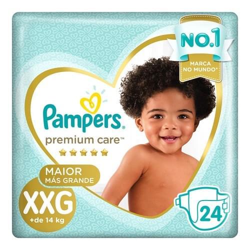 Imagem de Fralda infantil pampers premium care c/24 mega xxg pc