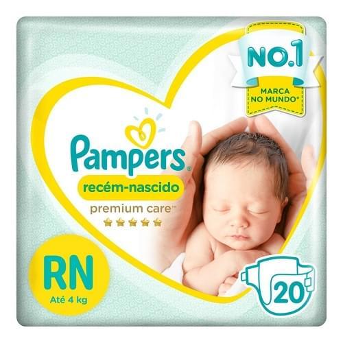 Imagem de Fralda infantil pampers premium care c/20 recém-nascido pc