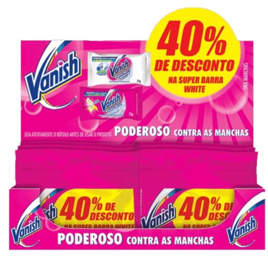 Imagem de Alvejante em barra vanish 75g pink + white com 40% desconto