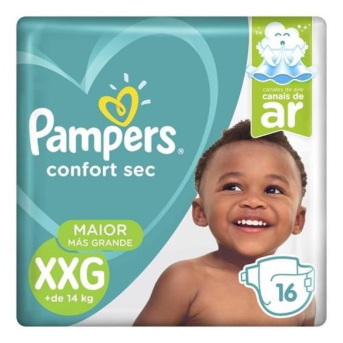 Imagem de Fralda infantil pampers confort c/16 pacotão xxg pc