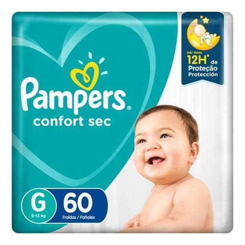 Imagem de Fralda infantil pampers confort c/60 mega g pc