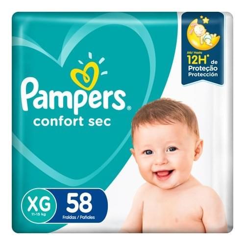 Imagem de Fralda infantil pampers confort c/58 mega xg pc
