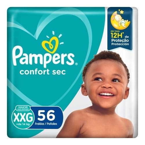 Imagem de Fralda infantil pampers confort c/56 mega xxg pc
