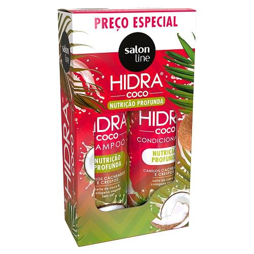 Imagem de Kit sh + co salon line 300ml hidra coco