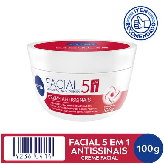 Imagem de Creme facial hidratante nivea 100g antissinais