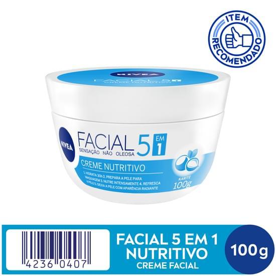 Imagem de Creme facial hidratante nivea 100g nutritivo