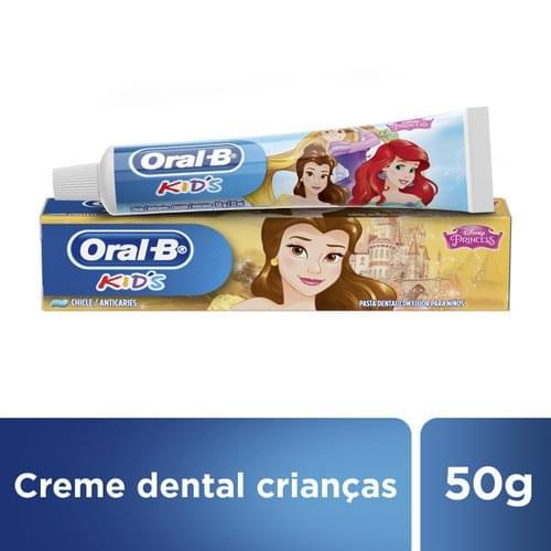 Imagem de Creme dental tradicional oral-b 50g princesas