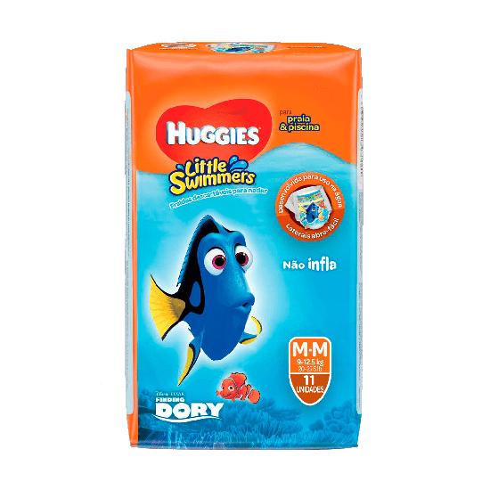 Imagem de Fralda infantil huggies c/11 little swimmers m
