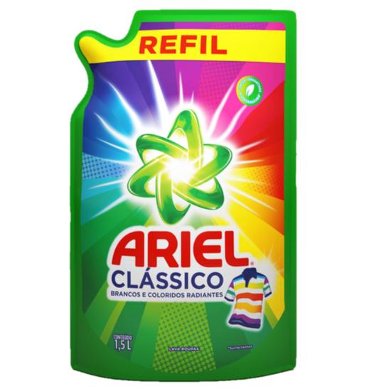 Imagem de Lava-roupas líquido ariel 1,5l clássico refil sache