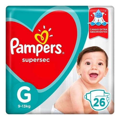 Imagem de Fralda infantil pampers supersec c/26 pacotão g