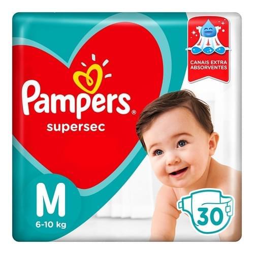 Imagem de Fralda infantil pampers supersec c/30 pacotão m