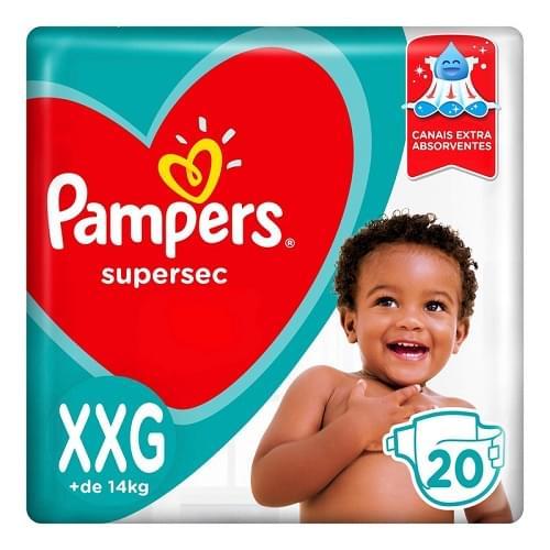 Imagem de Fralda infantil pampers supersec c/20 pacotão xxg