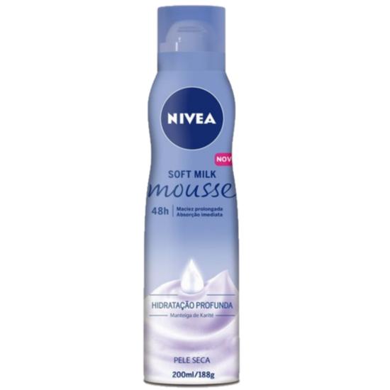 Imagem de Mousse hidratante nivea 200ml soft milk
