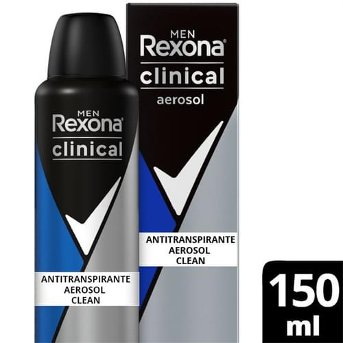 Imagem de Desodorante aerosol rexona 150ml masculino clinical clean