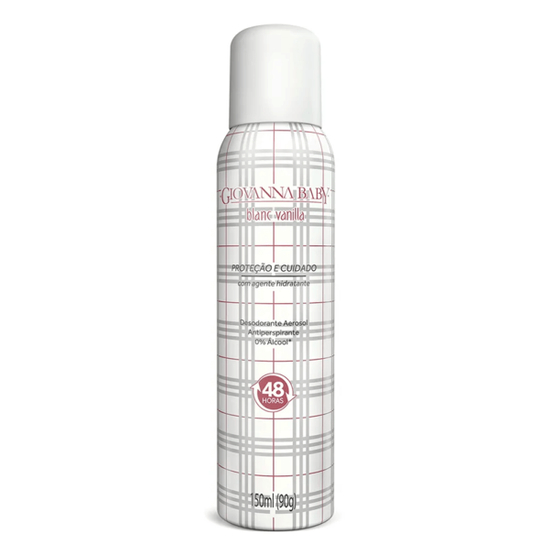 Imagem de Desodorante aerosol giovanna baby 150ml feminino blanc vanilla