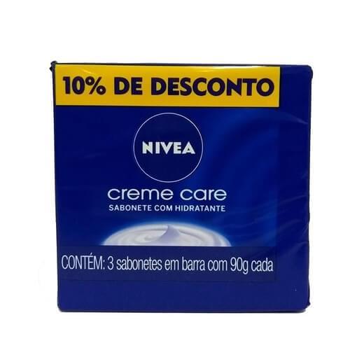 Imagem de Sabonete em barra uso diário nivea c/3 creme care c/3 10% desconto