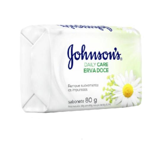 Imagem de Sabonete em barra uso diário johnson johnson 80g erva doce