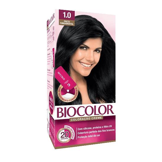 Imagem de Tintura permanente biocolor 1.0 preto fundamental