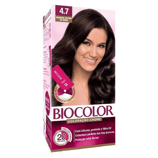 Imagem de Tintura permanente biocolor 4.7 marrom escuro da moda