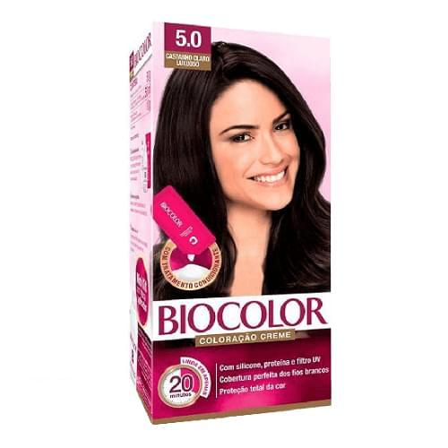 Imagem de Tintura permanente biocolor 5.0 castanho claro luxuoso