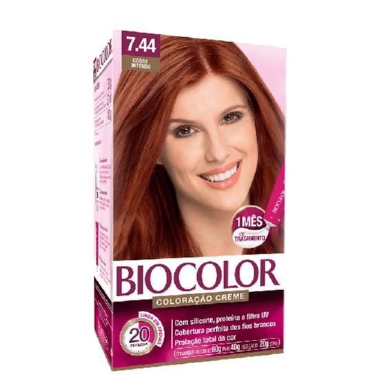 Imagem de Tintura permanente biocolor 7.44 cobre intenso