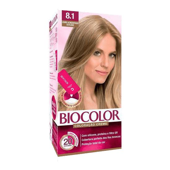 Imagem de Tintura permanente biocolor 8.1 louro acinzentado estiloso