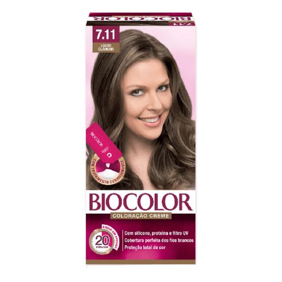 Imagem de Tintura permanente biocolor 7.11 louro glamour