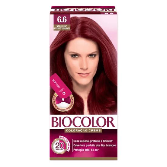 Imagem de Tintura permanente biocolor 6.6 vermelho intenso vibrante