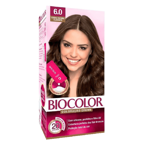 Imagem de Tintura permanente biocolor 6.0 louro escuro classico