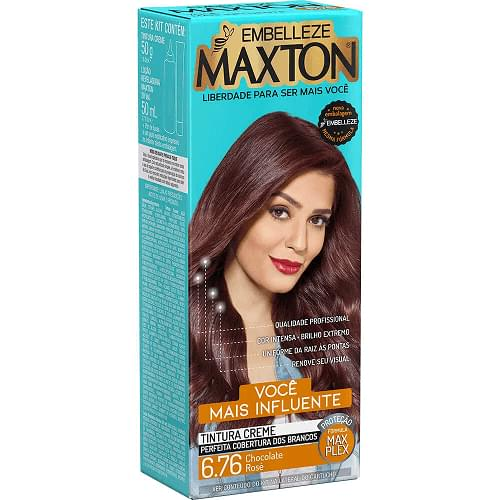 Imagem de Tintura permanente maxton 6.76 chocolate rose