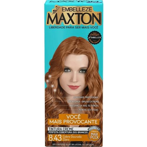Imagem de Tintura permanente maxton 8.43 cobre dourado claro