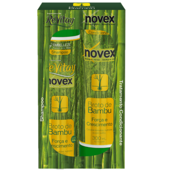 Imagem de Kit sh + co novex 300ml broto de bambu