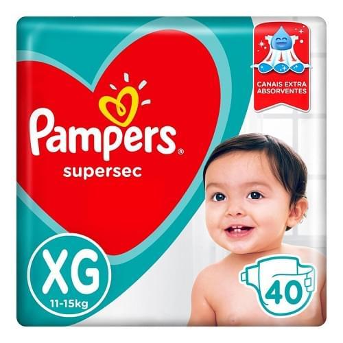 Imagem de Fralda infantil pampers supersec c/40 hiper xg