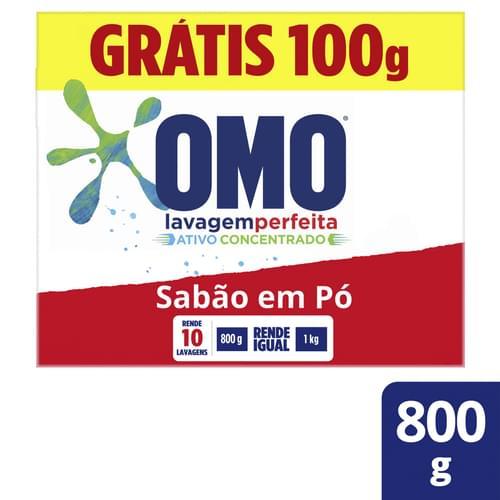 Imagem de Detergente em pó omo 800g lavagem perfeita l800g p700g