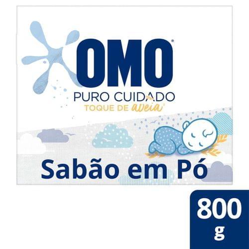 Imagem de Detergente em pó omo 800g puro cuidado