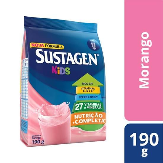 Imagem de Suplemento alimentar sache sustagen kids 190g morango