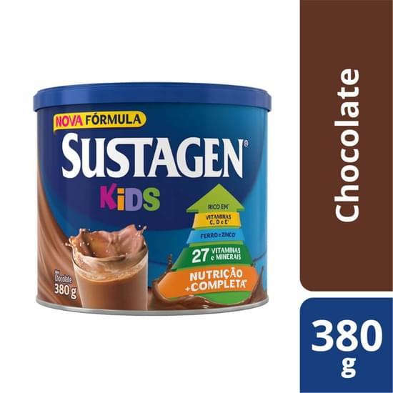 Imagem de Suplemento alimentar lata sustagen kids 380g chocolate