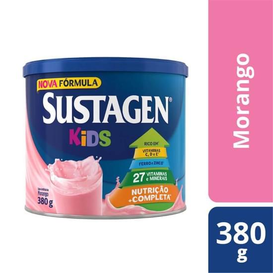 Imagem de Suplemento alimentar lata sustagen kids 380g morango