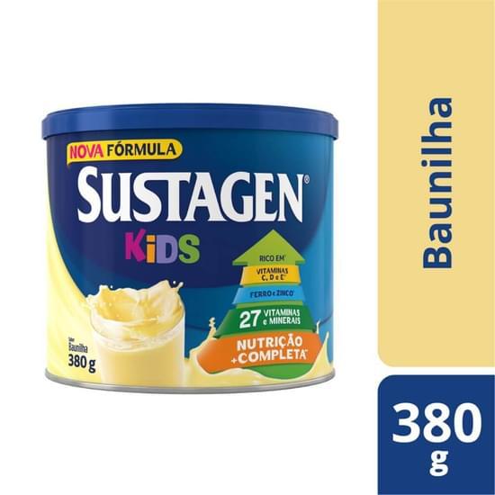 Imagem de Suplemento alimentar lata sustagen kids 380g baunilha