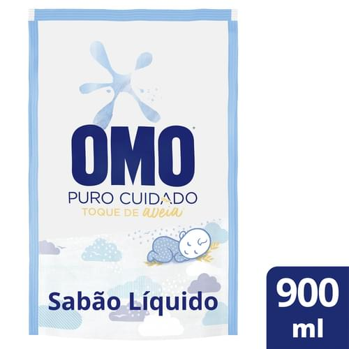 Imagem de Lava-roupas líquido omo 900ml puro cuidado refil