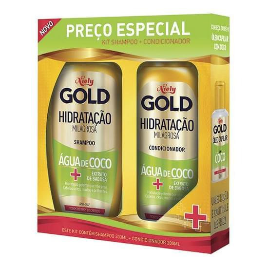 Imagem de Kit sh + co niely gold água de coco