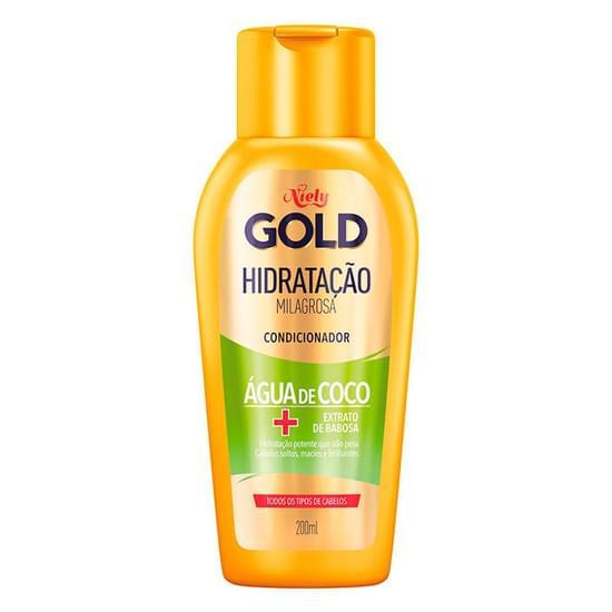 Imagem de Condicionador uso diário niely gold 200ml água de coco