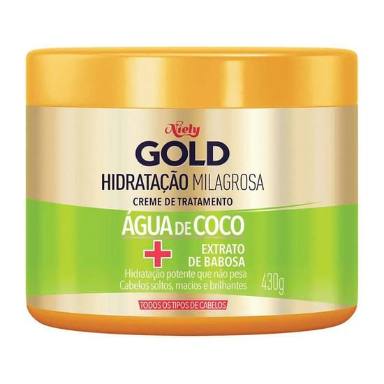 Imagem de Creme tratamento niely gold 430g água de coco