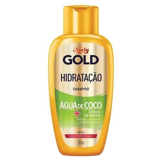 Imagem de Shampoo uso diário niely gold 300ml água de coco