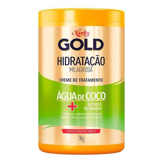 Imagem de Creme tratamento niely gold 1kg água de coco