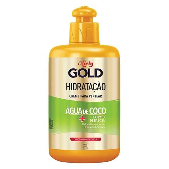 Imagem de Creme para pentear niely gold 280g água de coco