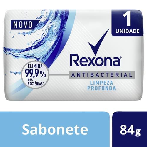 Imagem de Sabonete em barra uso diário rexona 84g antibacterial limpeza profunda
