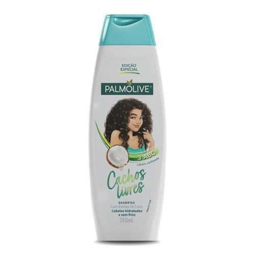 Imagem de Shampoo uso diário palmolive 350ml cachos livres coco cacheado